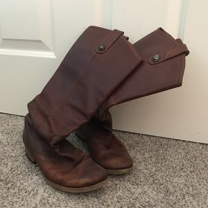 Frye leather boots.